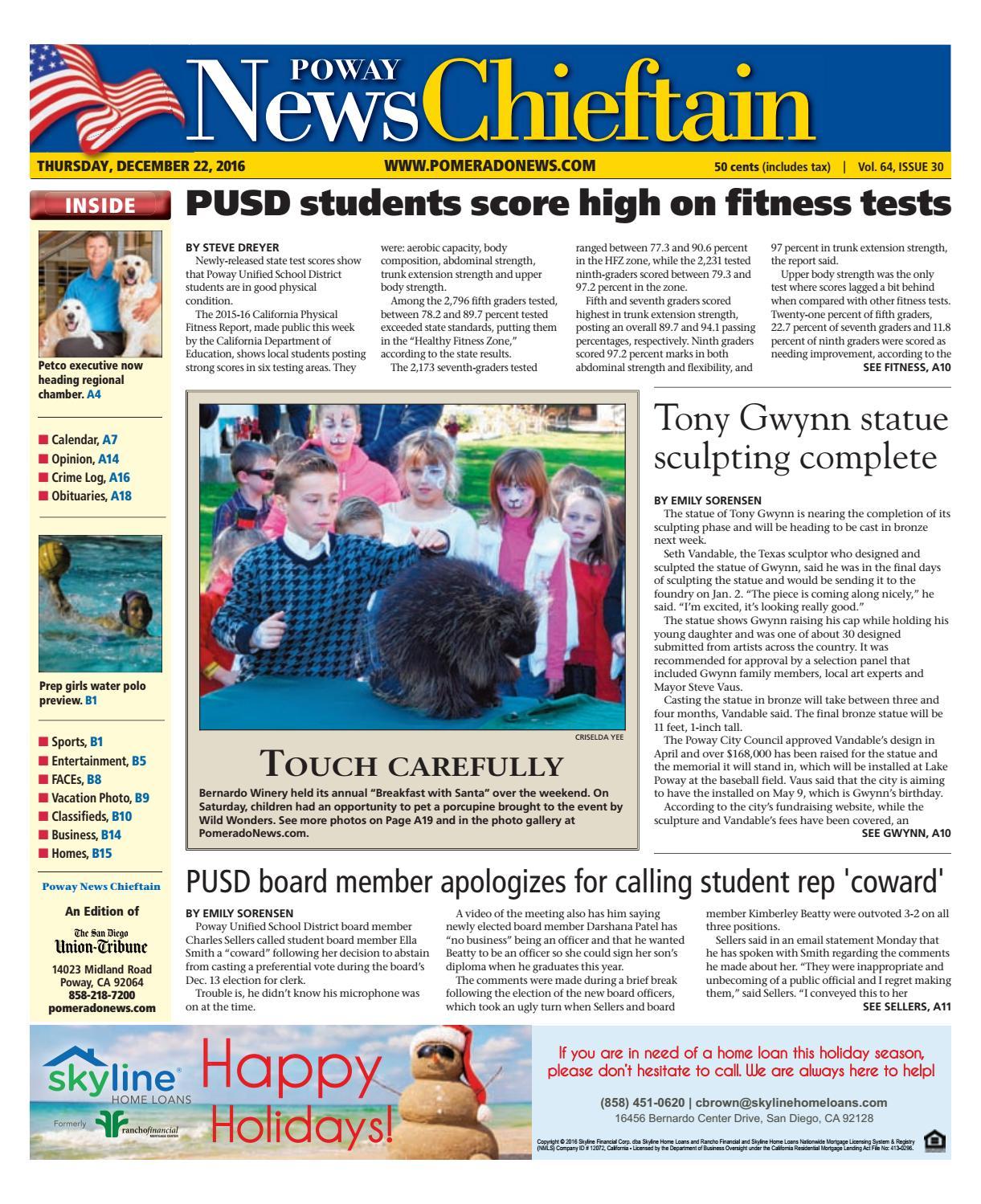 Poway news chieftain 12 22 16 by MainStreet Media - issuu
