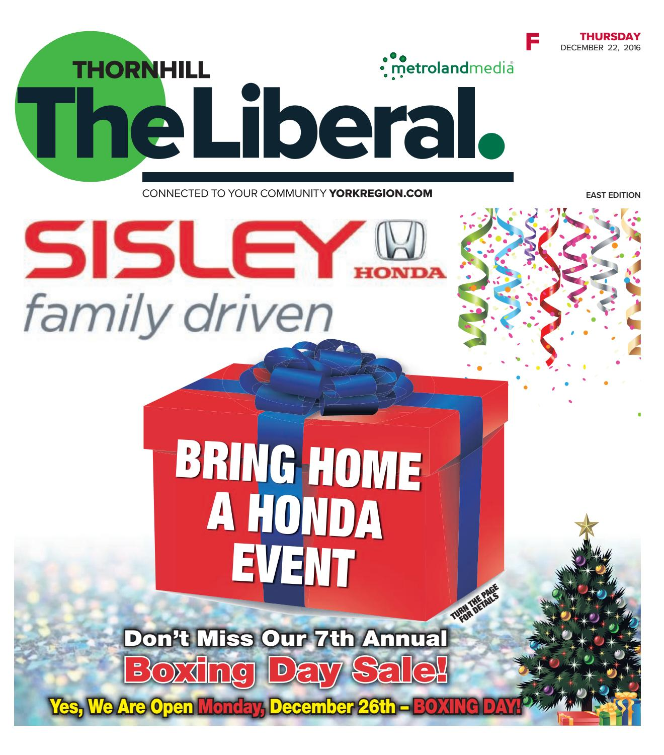The Thornhill Liberal East December 22 2016 by Thornhill Liberal issuu