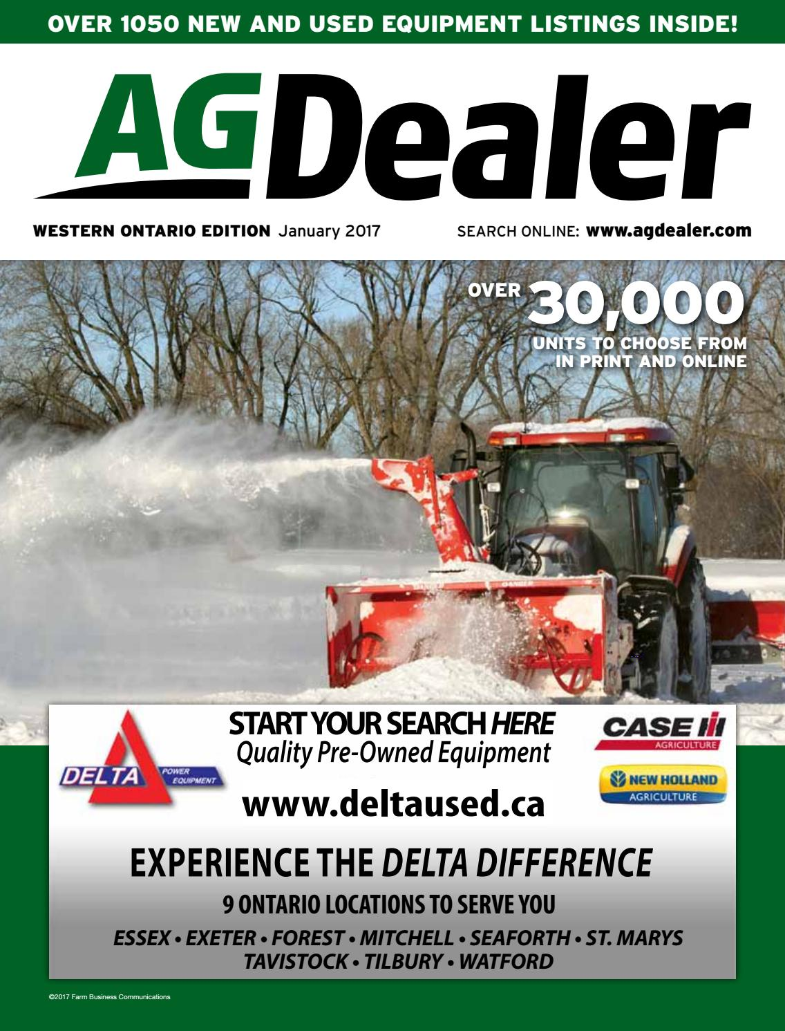 AGDealer Western Ontario Edition, January 2017 by Farm Business  Communications - issuu