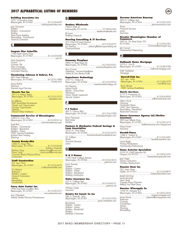2017 BASCI Directory by Hoosier Times Inc. - issuu