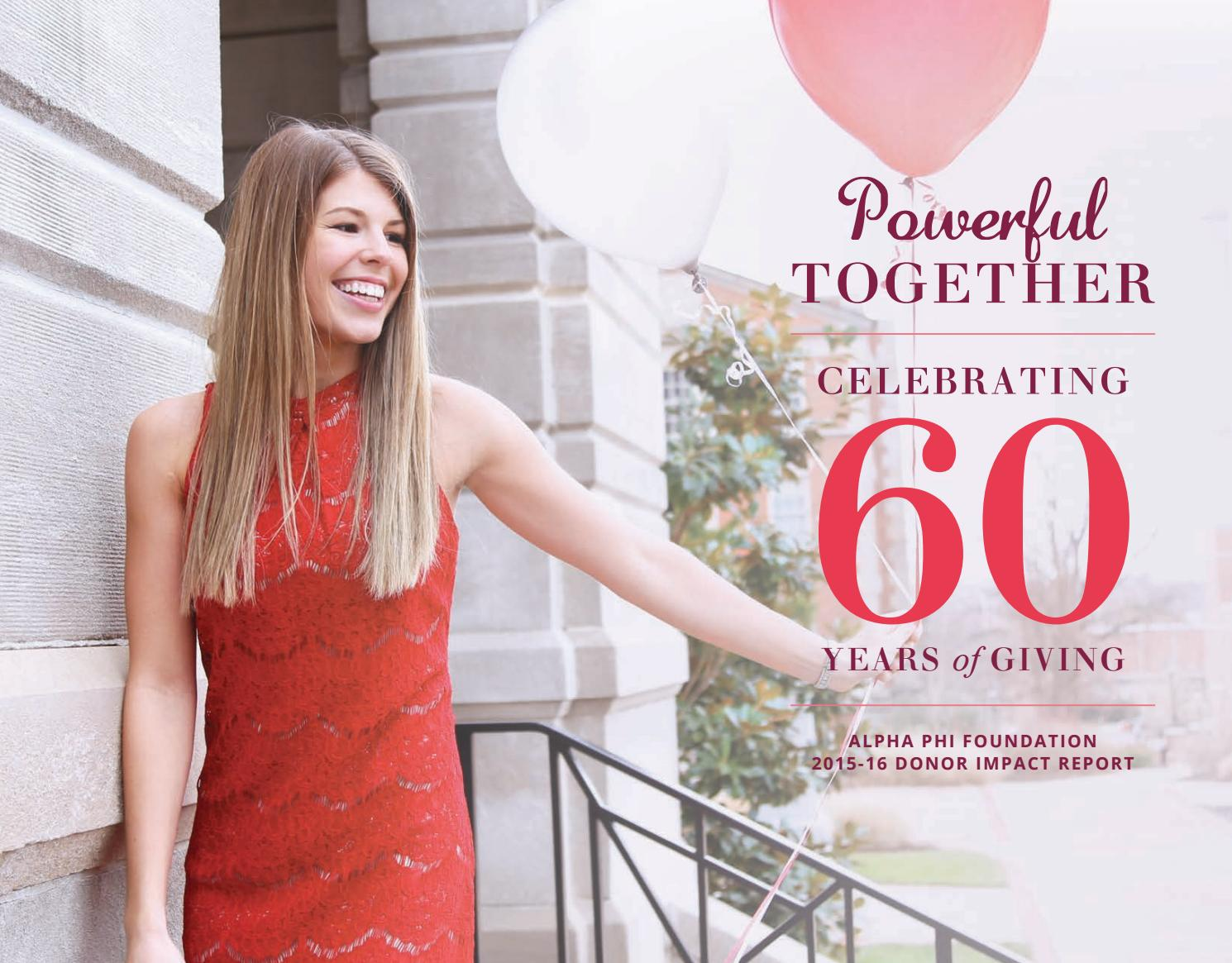 Alpha Phi Foundation 2015-16 Donor Impact Report by Alpha Phi Foundation - Issuu