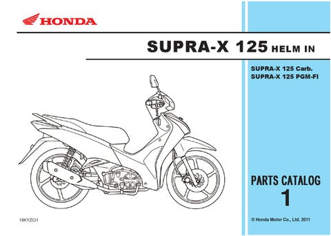 SUPRA-X 125 HELM IN SUPRA-X 125 Carb. SUPRA-X 125 PGM-FI 298432e002