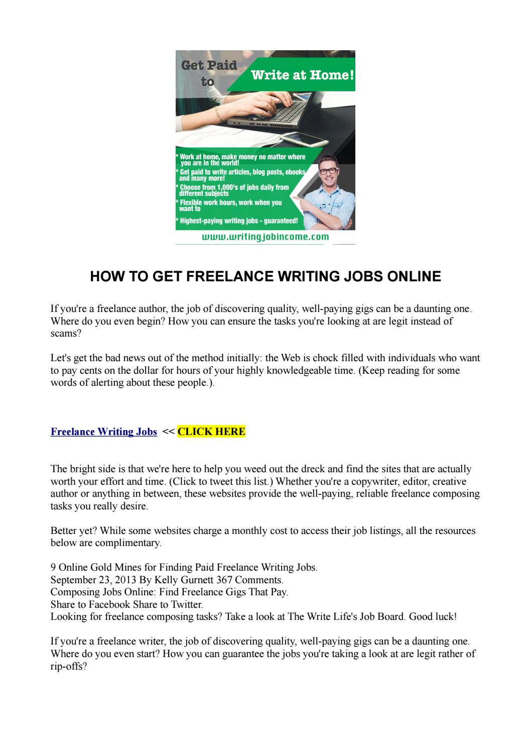 lance jobs that pay well how can i get paid to lance reading  how to get lance writing jobs online writingjobincome how to get lance writing jobs online writingjobincome