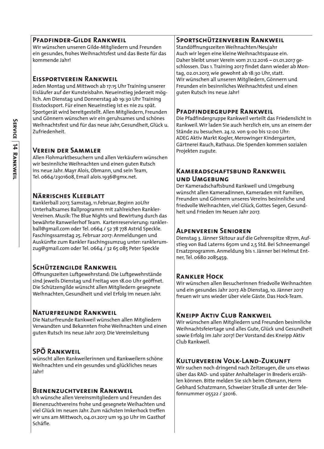 Gemeindeblatt Woche 51 52 by Rankweil - issuu