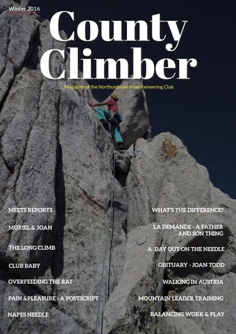 f6fb2a0950 County Climber Winter 2016 by The Northumbrian Mountaineering Club ...