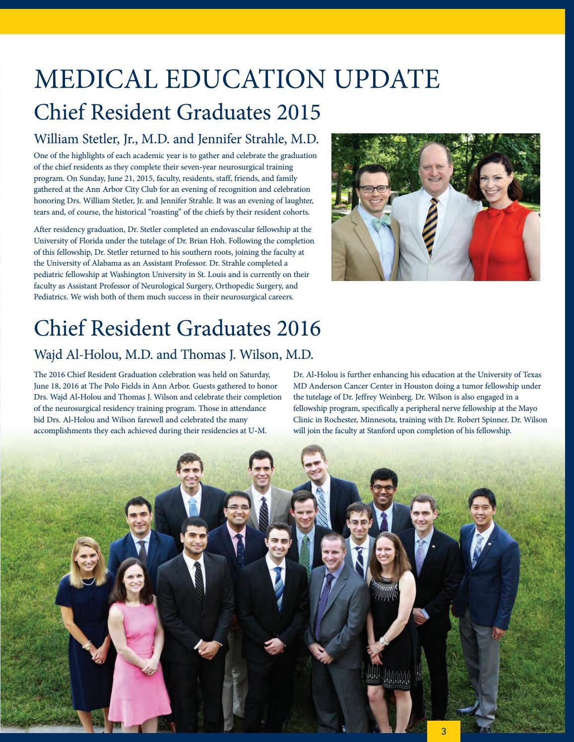 U-M Neurosurgery News and Notes 2016 by Michigan Medicine - issuu