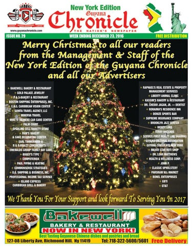 cdc6f739862a Guyana Chronicle New York Edition 23 12 2016 by Guyana Chronicle E ...