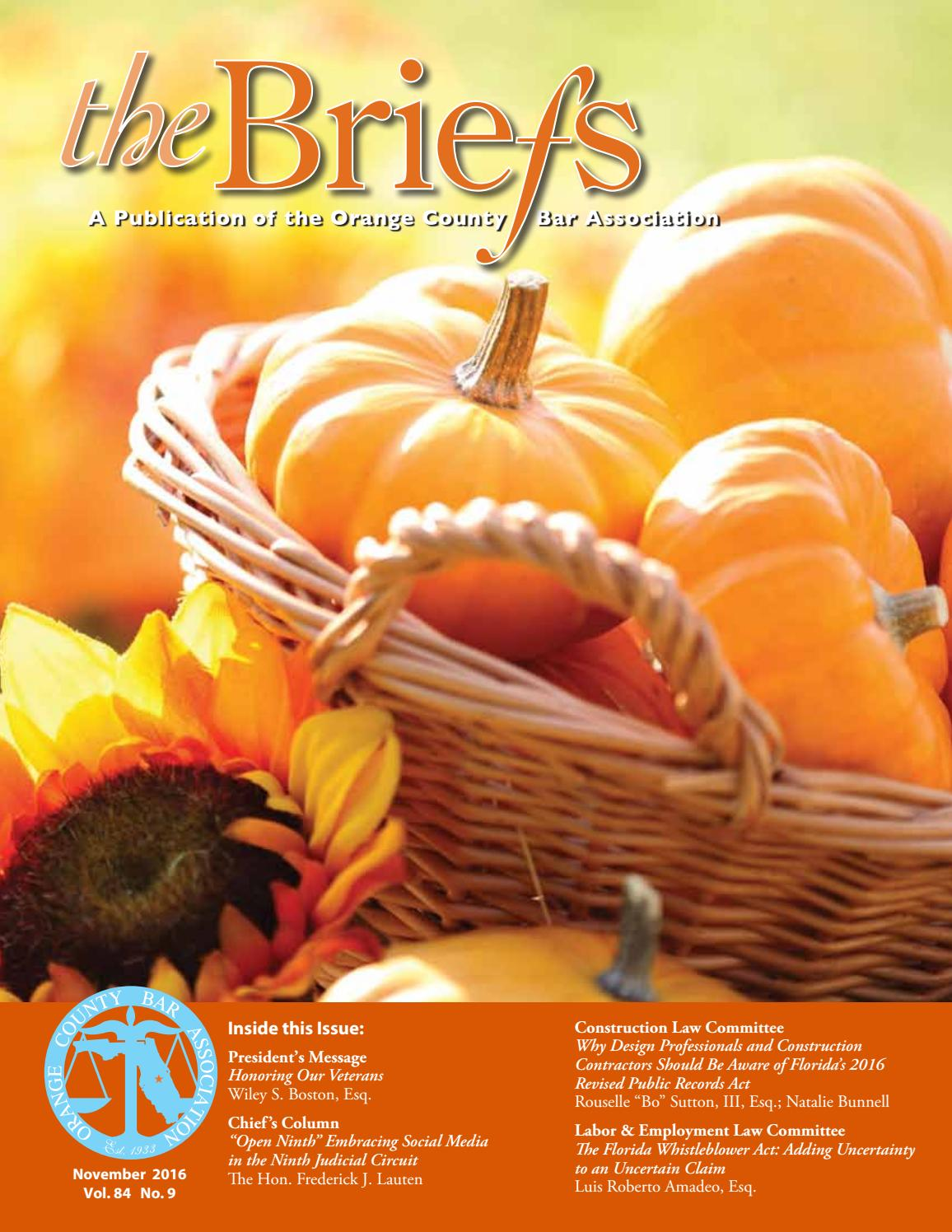 orange county bar association the briefs november 2016 by