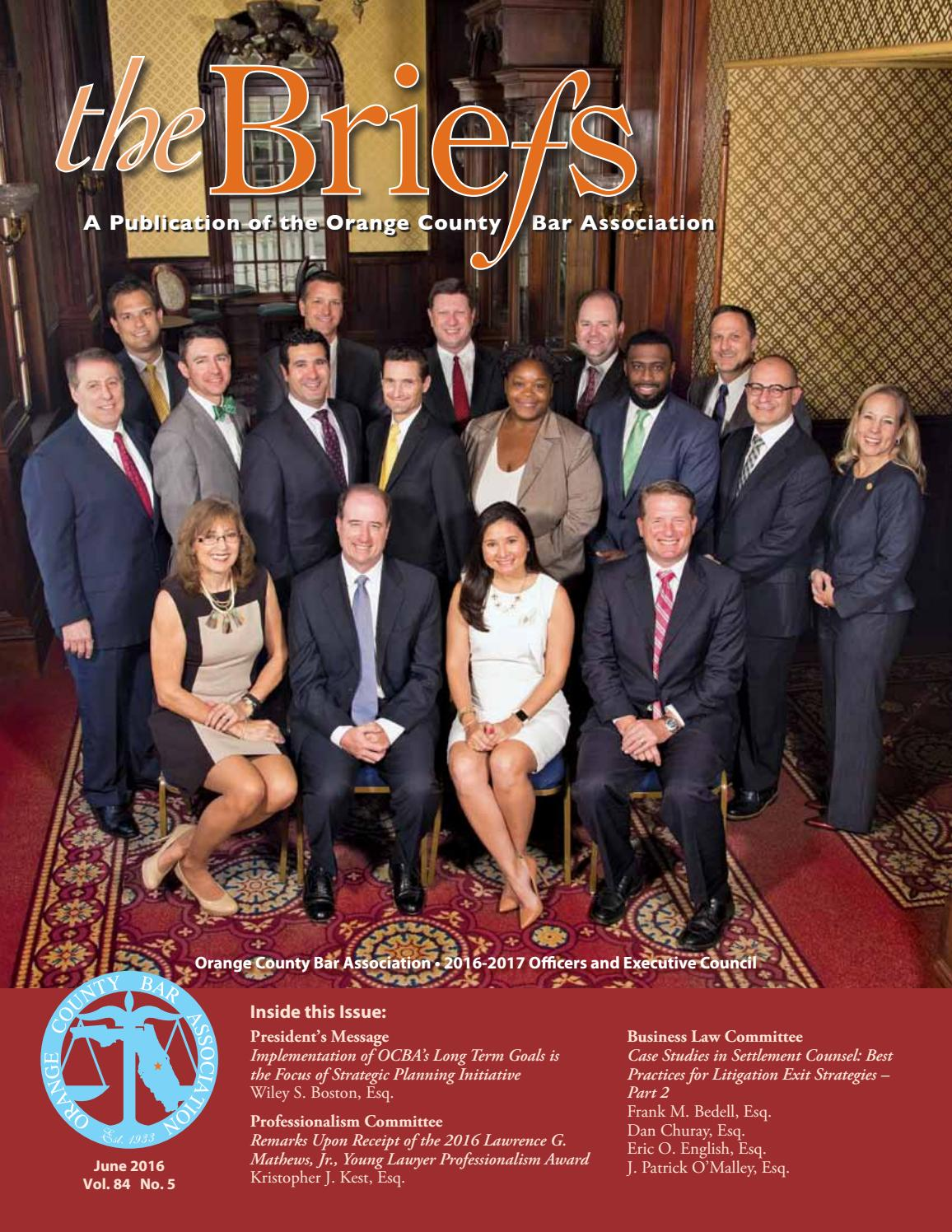 orange county bar association the briefs june 2016 by orange
