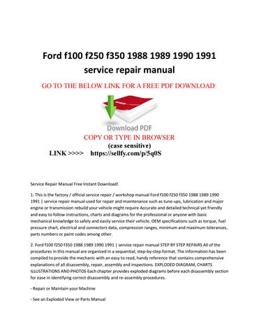 1990 ford f150 service manual