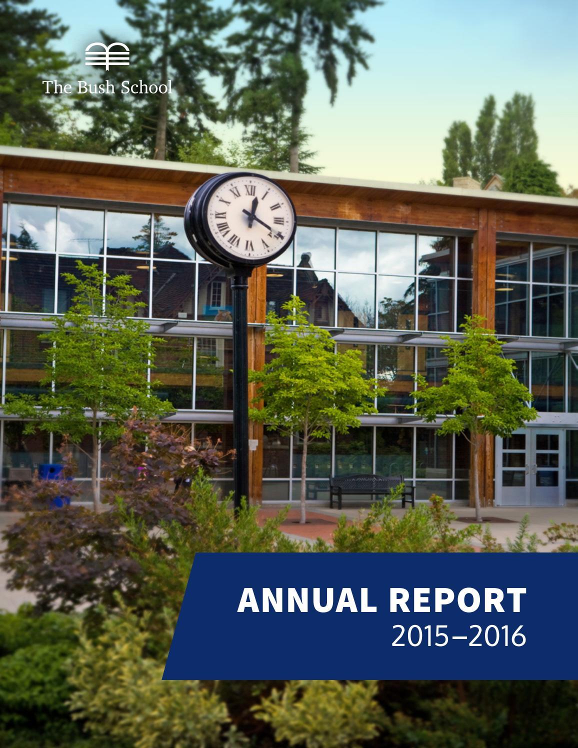 foto de The Bush School Annual Report 2015 2016 by The Bush School