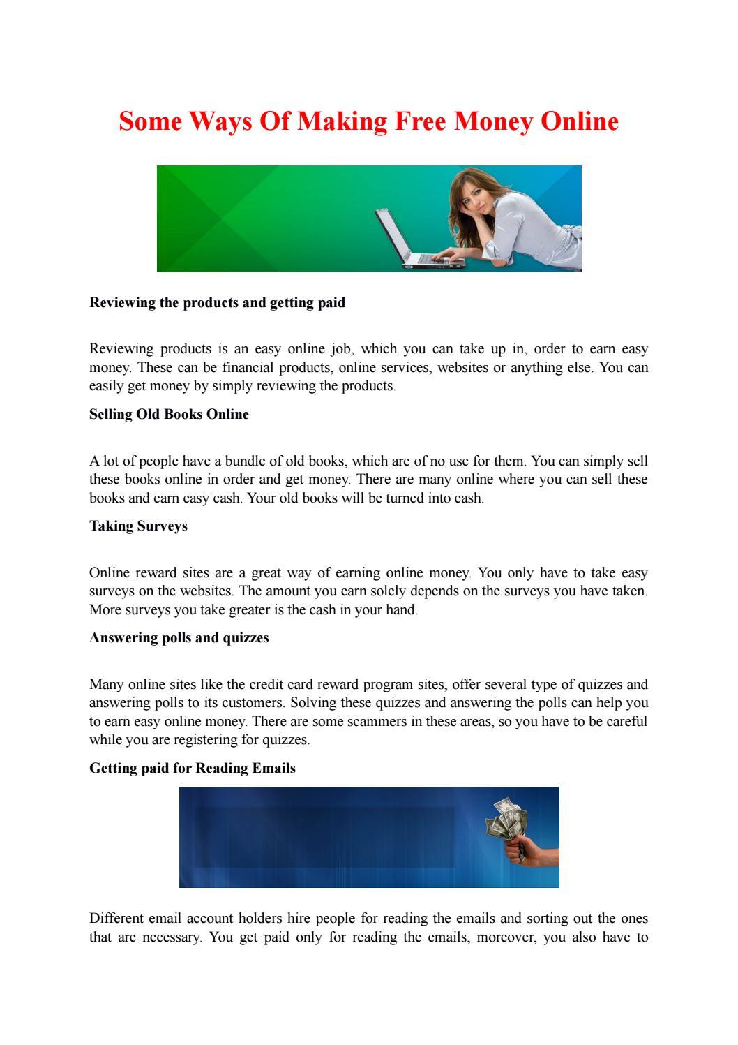 Some Ways Of Making Free Money Online by ClixSense - issuu