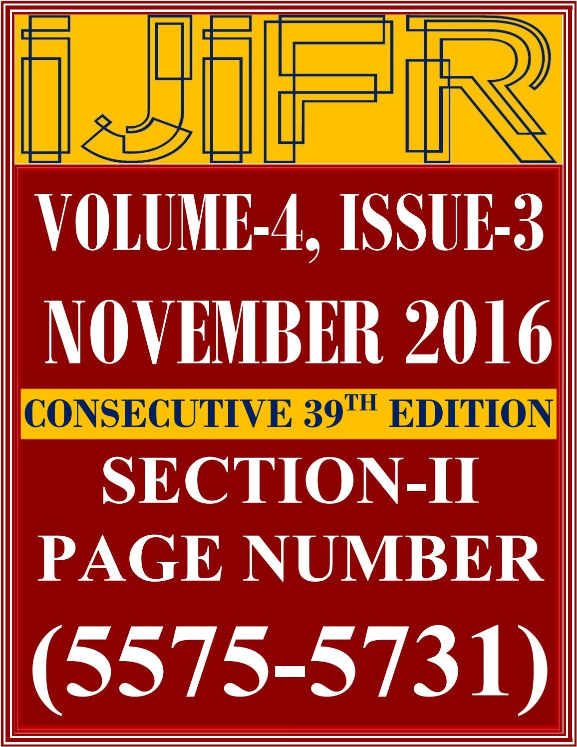 Section Ii Ijifr Volume 4 Issue 3 November 2016 By International This Simple Circuit Http Www Circuitdiagram Org Nicd N R Html Journal Of Informative And Futuristic Research Issuu