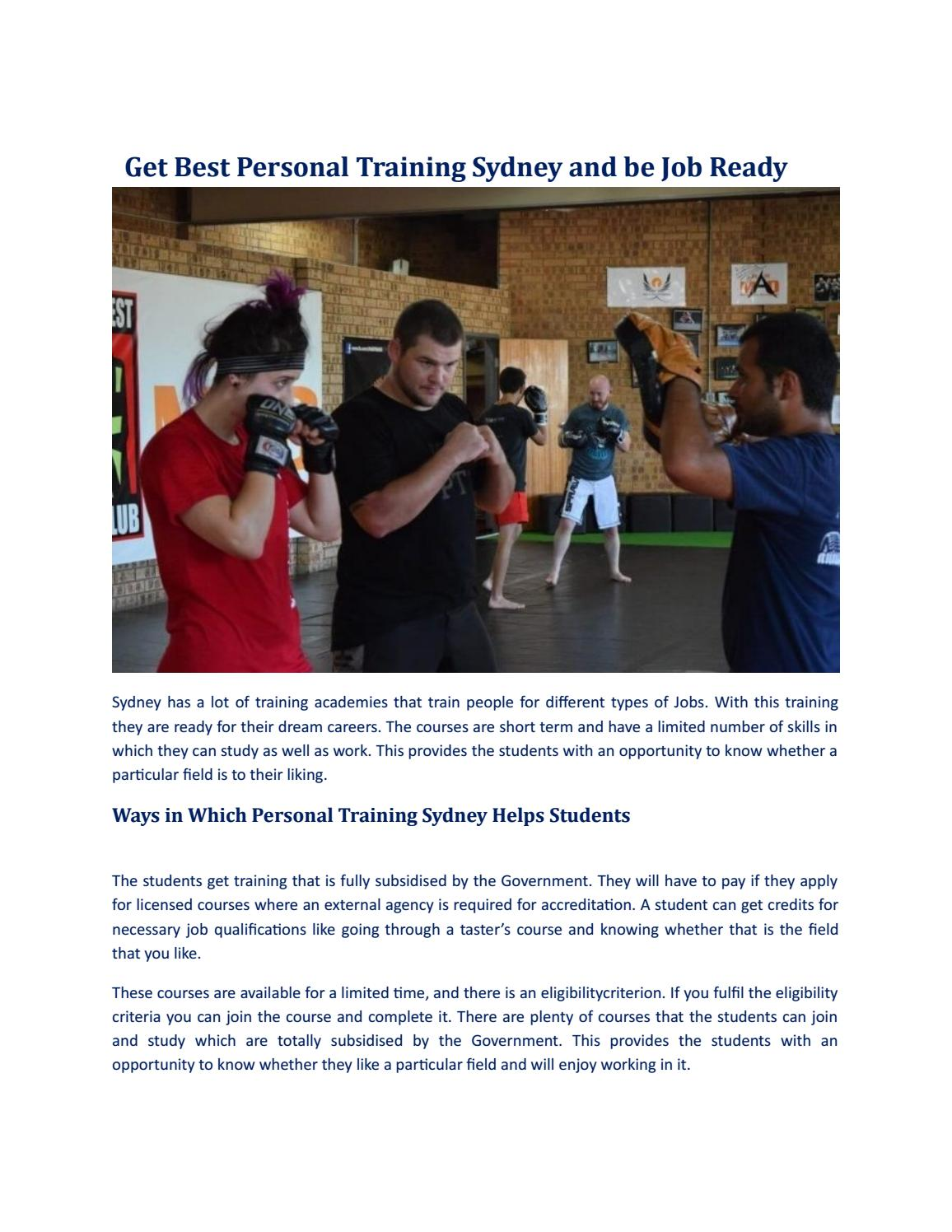 Get best personal training sydney and be job ready by martial arts get best personal training sydney and be job ready by martial arts development issuu xflitez Image collections