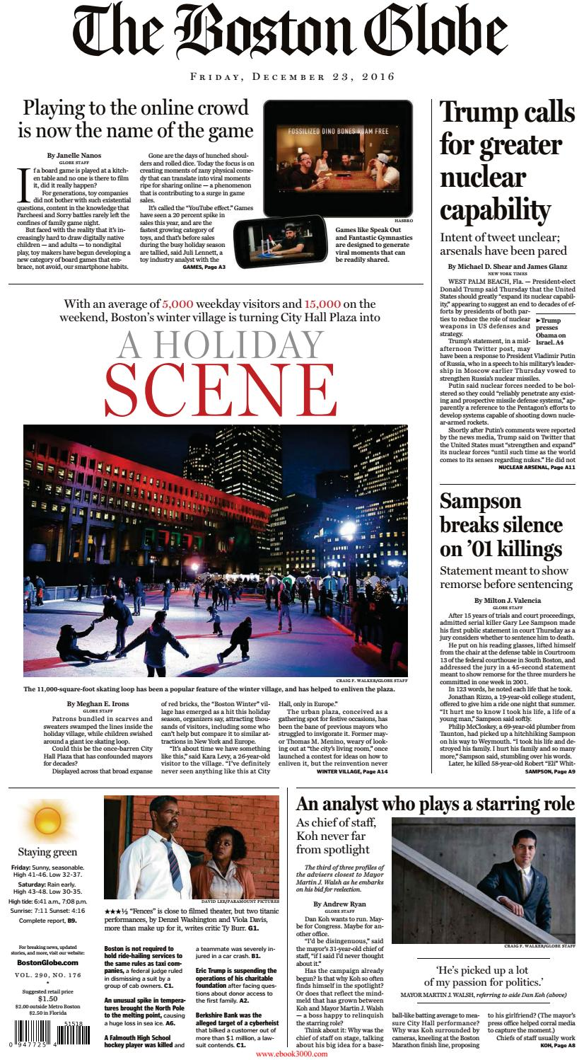 60c8ac59f41 The boston globe december 23 2016 by 24news - issuu