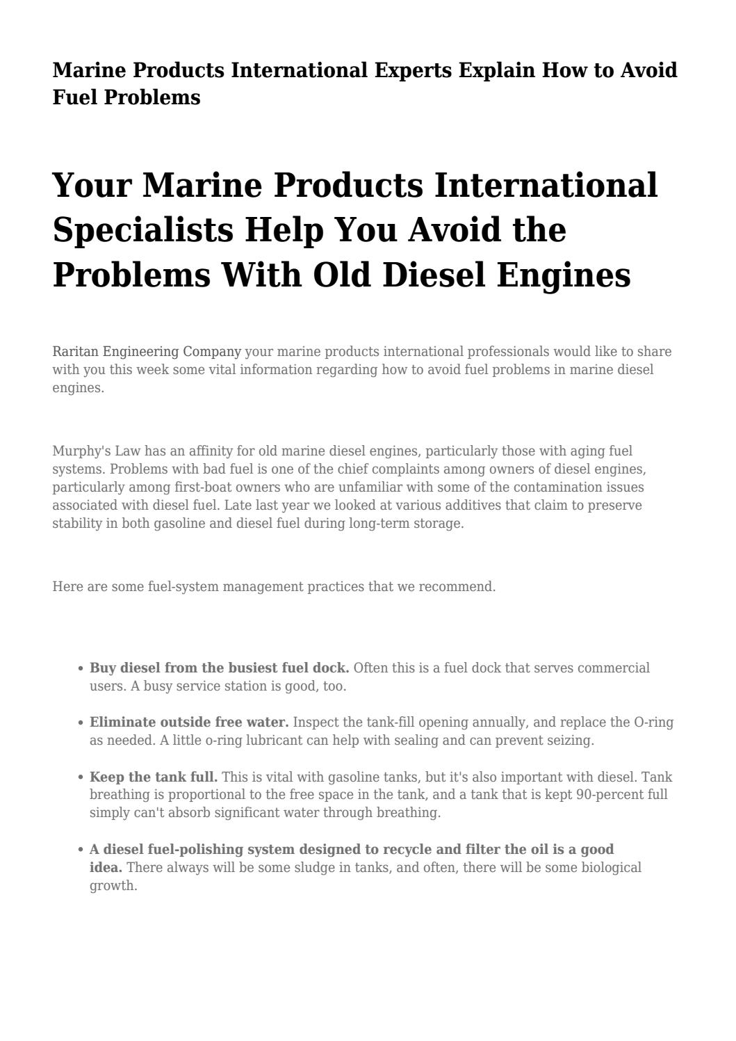Marine Products International Experts Explain How to Avoid