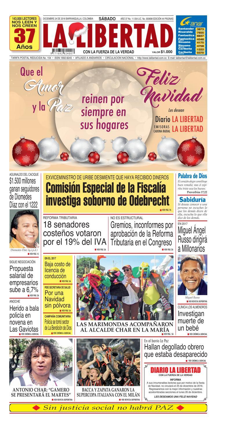 Diario La Libertad 24 De Diciembre De 2016 By Diario La Libertad  # Muebles Harvi Barranquilla Direccion