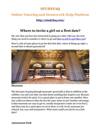 Where to go for second date