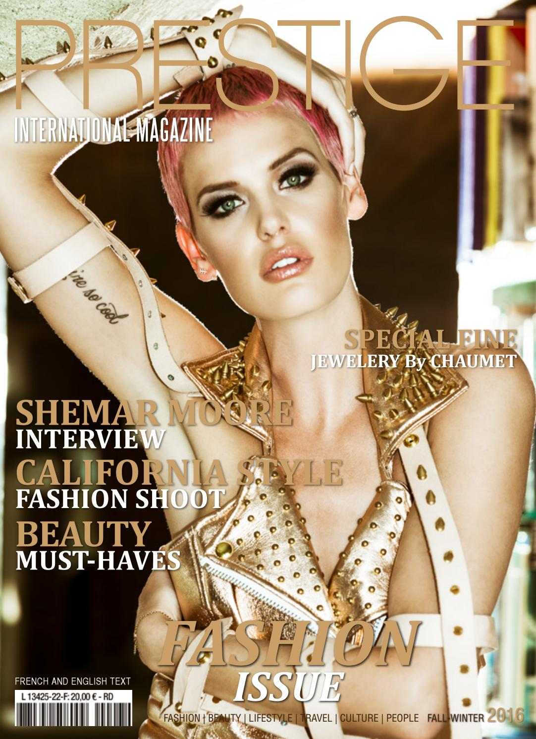 International Special Fall Winter Fashion Prestige Magazine DH2IWE9