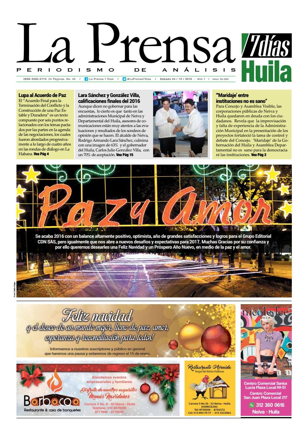 La prensa 24-12-2016 by LA PRENSA 7 DIAS - issuu
