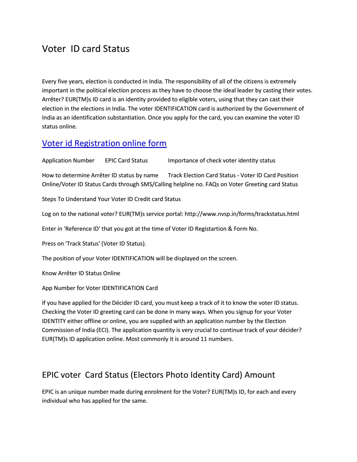 essay voter id Free essay: voter id laws: common sense the ability to vote is one of the most cherished and fundamental rights in the united states of america.