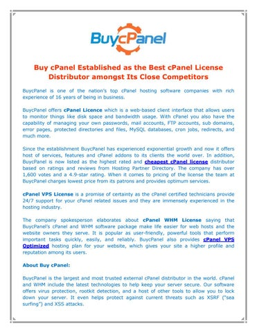 Buy cPanel by Buy cPanel - issuu