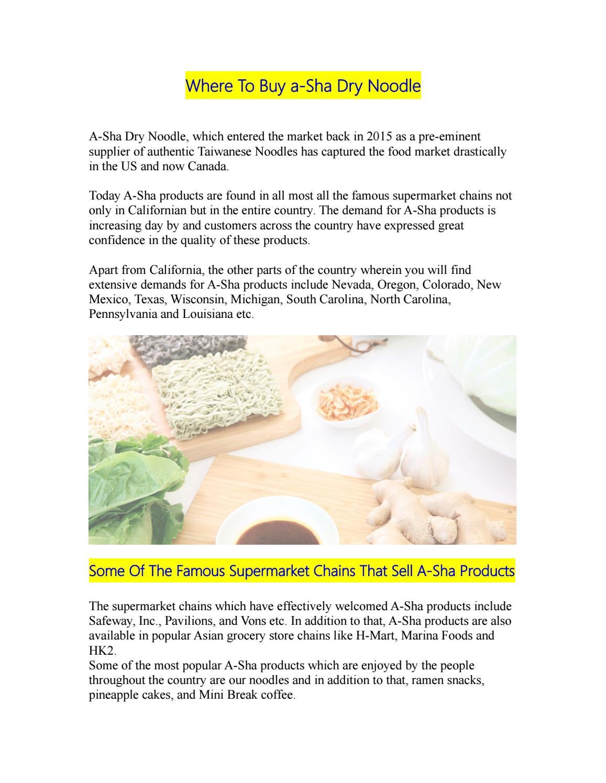 Where to buy a sha dry noodle by ElizabethSmith issuu