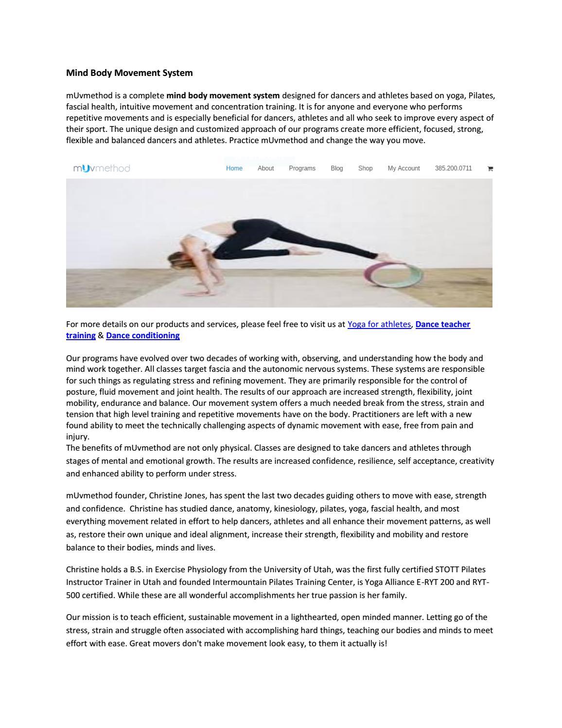 Mind body movement system by mUvmethod - issuu
