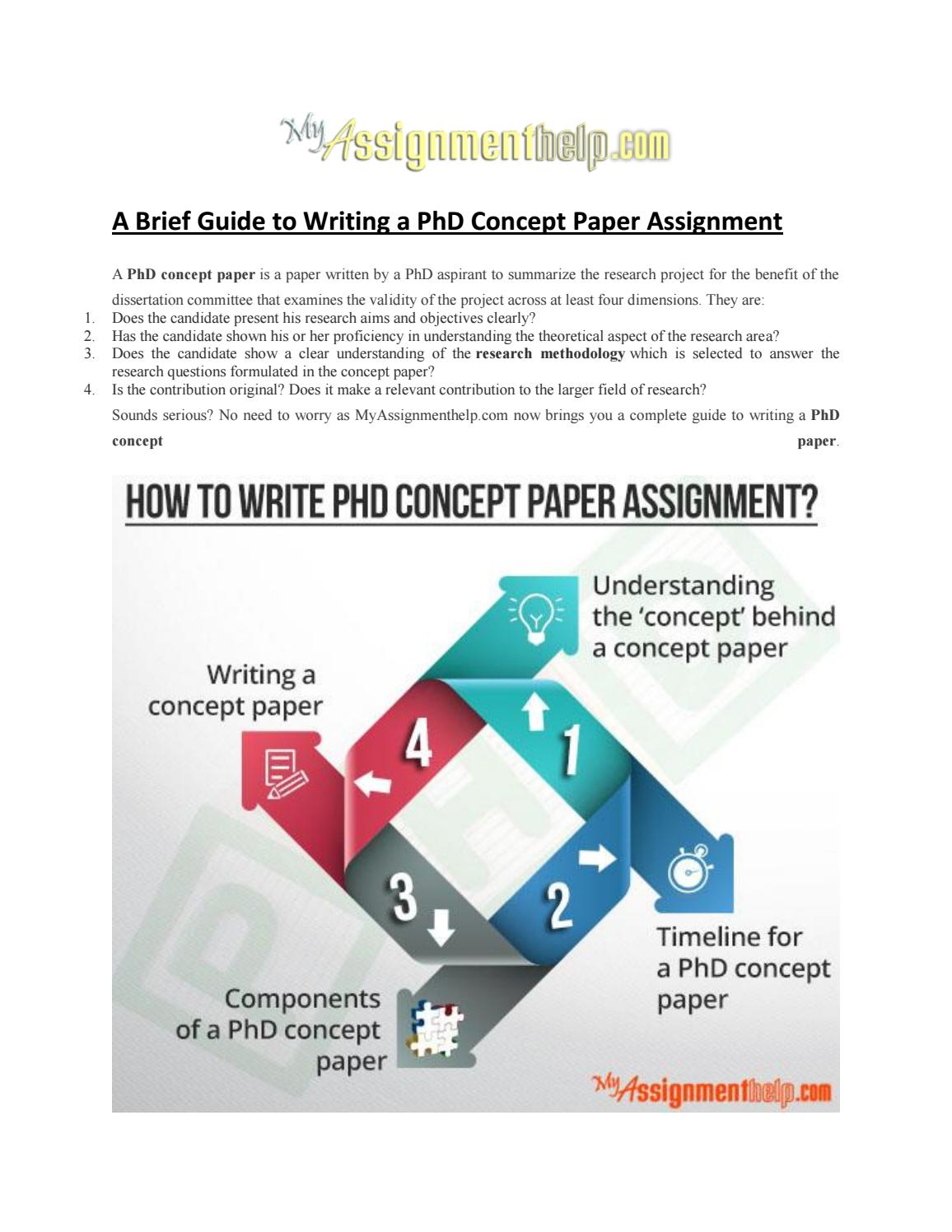 Phd thesis concept paper
