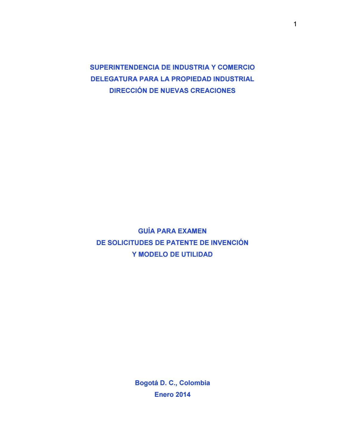 Guía de examen de patentes by Superintendencia de Industria y ...