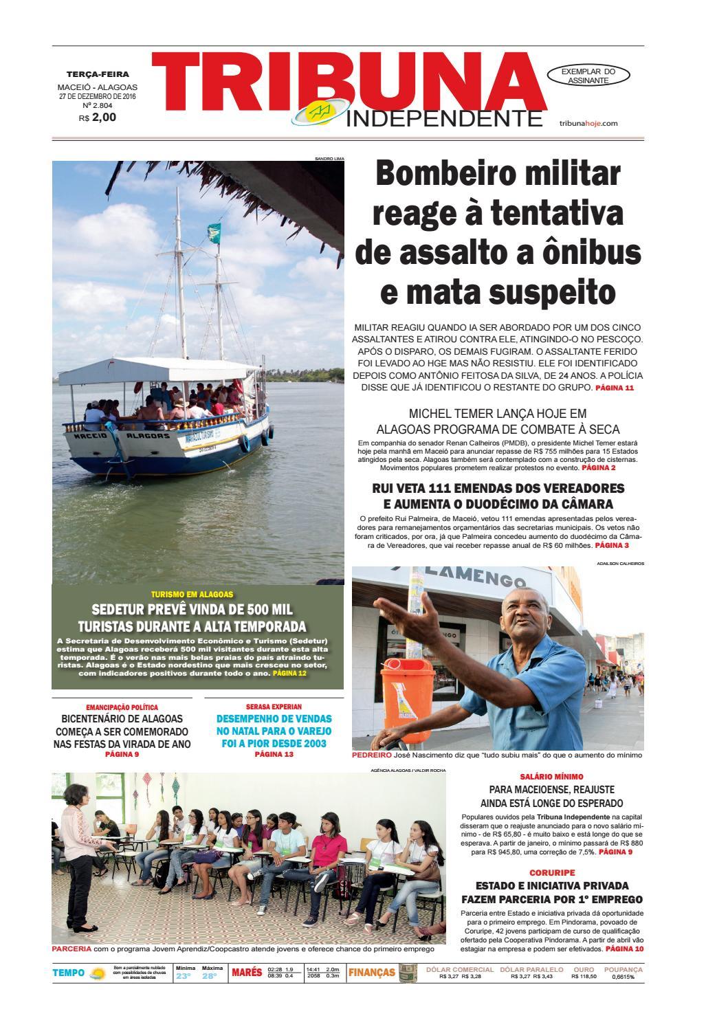 95dab2d2c16 Edição número 2804 - 27 de dezembro de 2016 by Tribuna Hoje - issuu