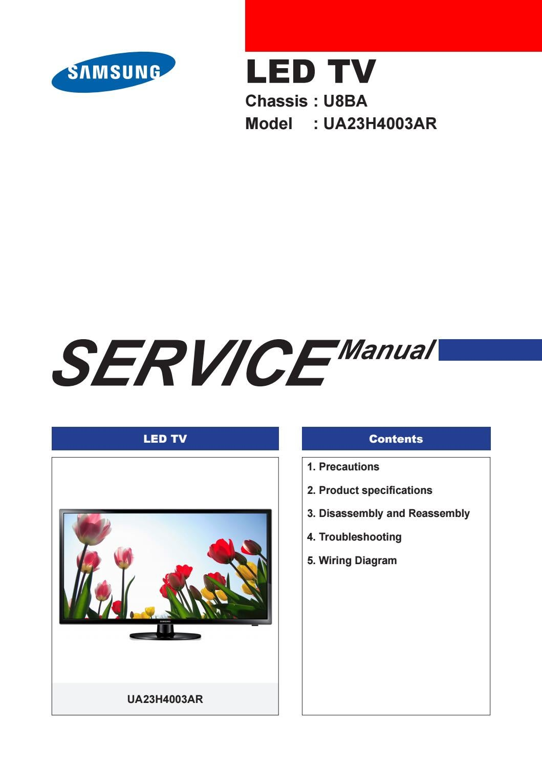 Manual De Servio Tv Led Samsung Ue26d4003 Chassis U57e By Portal Da Lcd Schematic Diagram On Plasma Do Televisor Marca Modelo Ua23h4003r U8ba