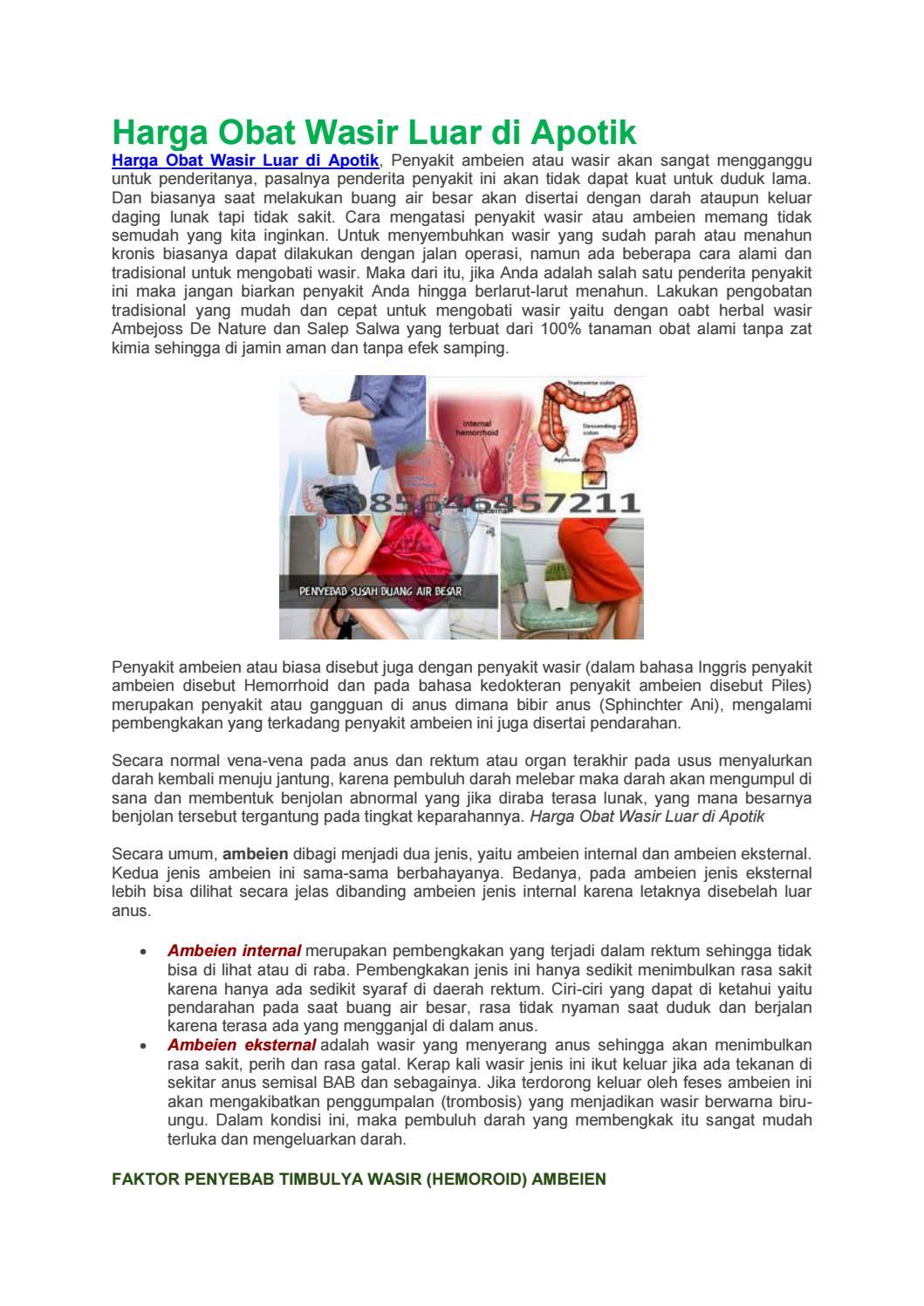 Harga Obat Wasir Luar Di Apotik By Wawan Salebu Issuu Hemmorhoida Ambien Ambeien