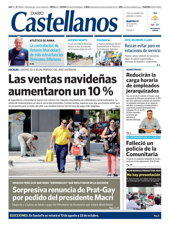 3fcd59c3403 Diario Castellanos 27 12 by Diario Castellanos - issuu