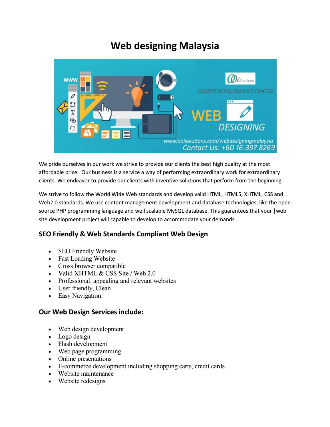 Web Design Company In Malaysia Ecommerce Site Development Pdf By Ooisolutions Issuu