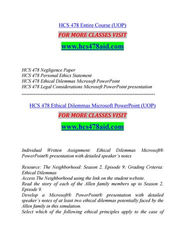 HCS 478 AID Successful Learning/hcs478aid com by