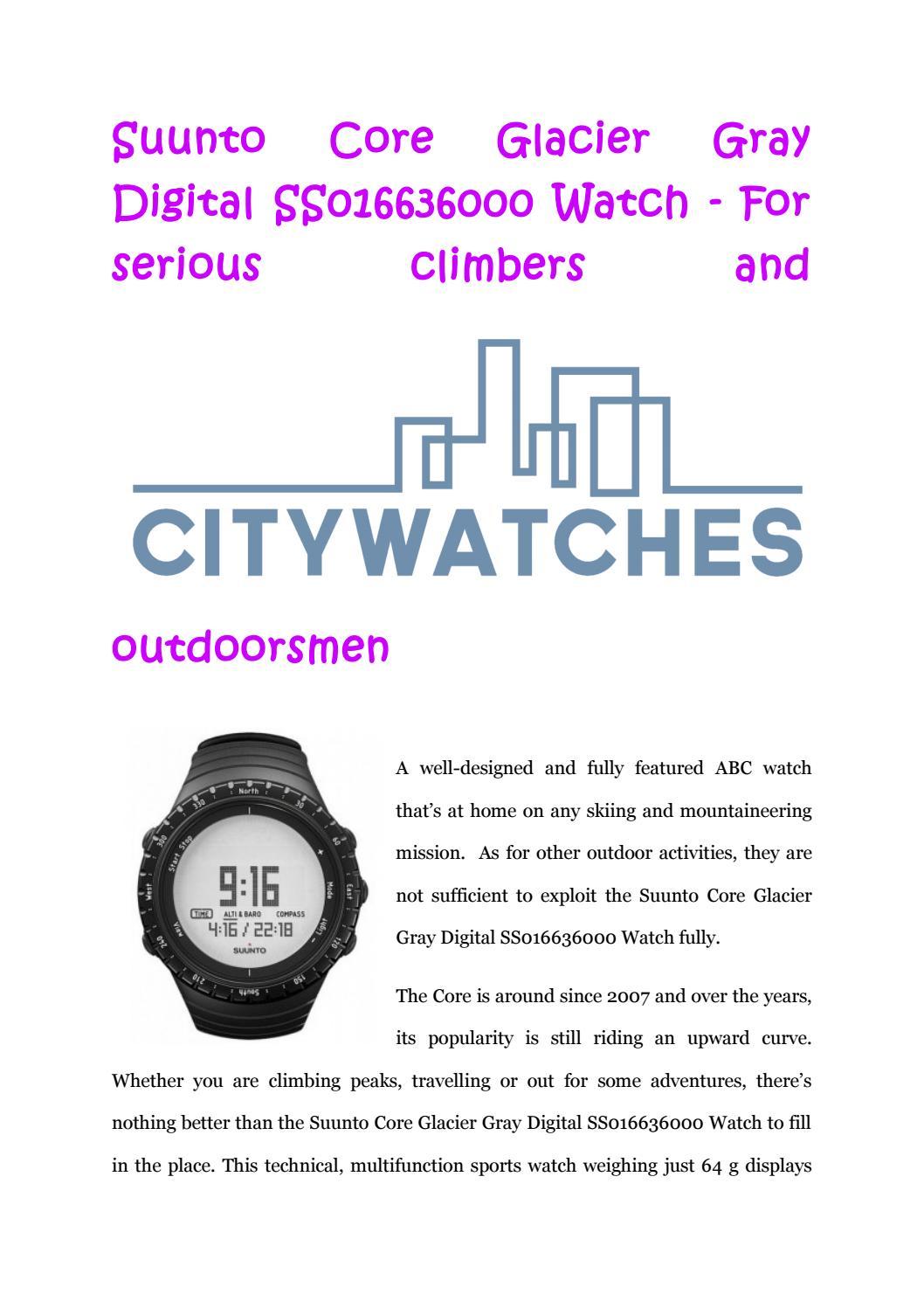 Suunto Core Glacier Gray Digital Ss016636000 Watch By Citywatchesca Outdoor Issuu