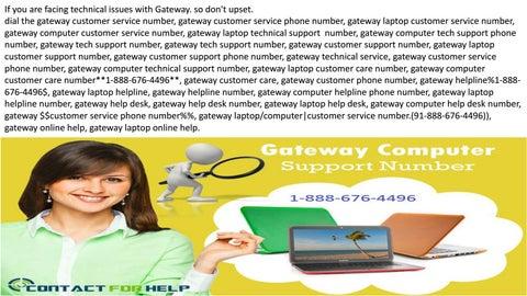 gateway customer service phone number