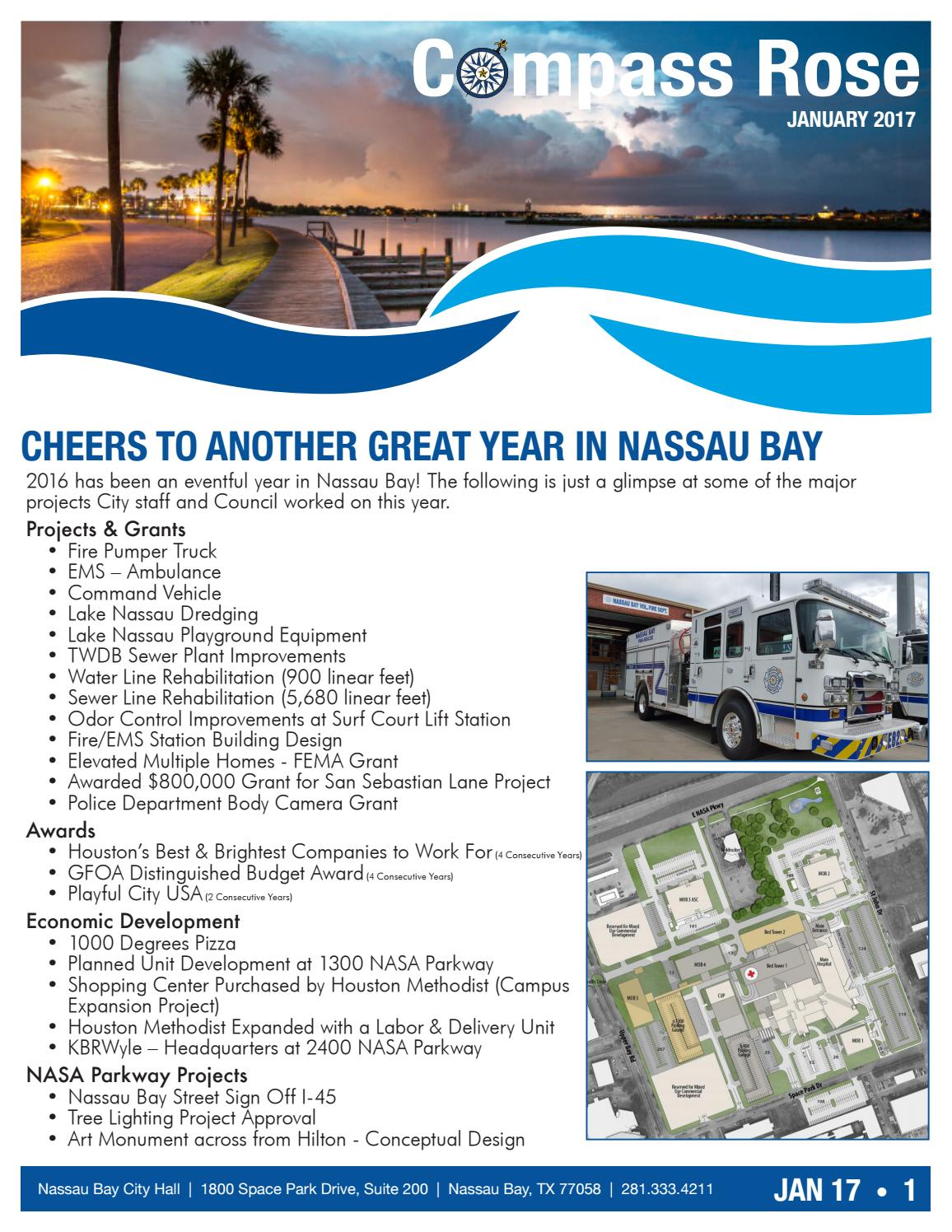 Nassau Bay Compass Rose Newsletter January 2017 By City