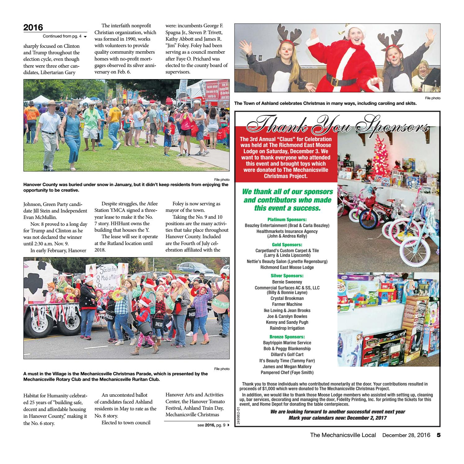 12/28/16 by The Mechanicsville Local - issuu
