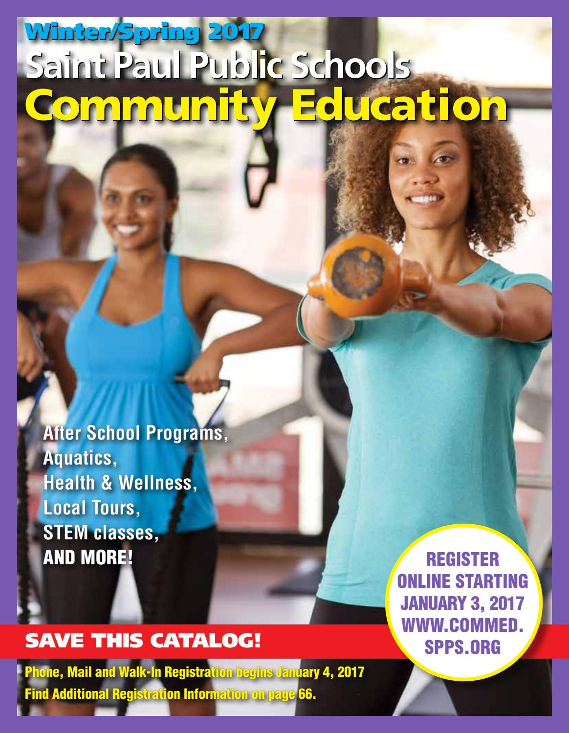 Spps Calendar.Winter Spring 2017 Saint Paul Community Education Catalog By Saint