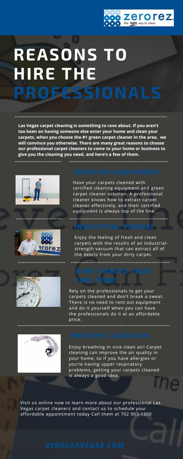 Reasons To Hire The Professional Carpet Cleaning In Las