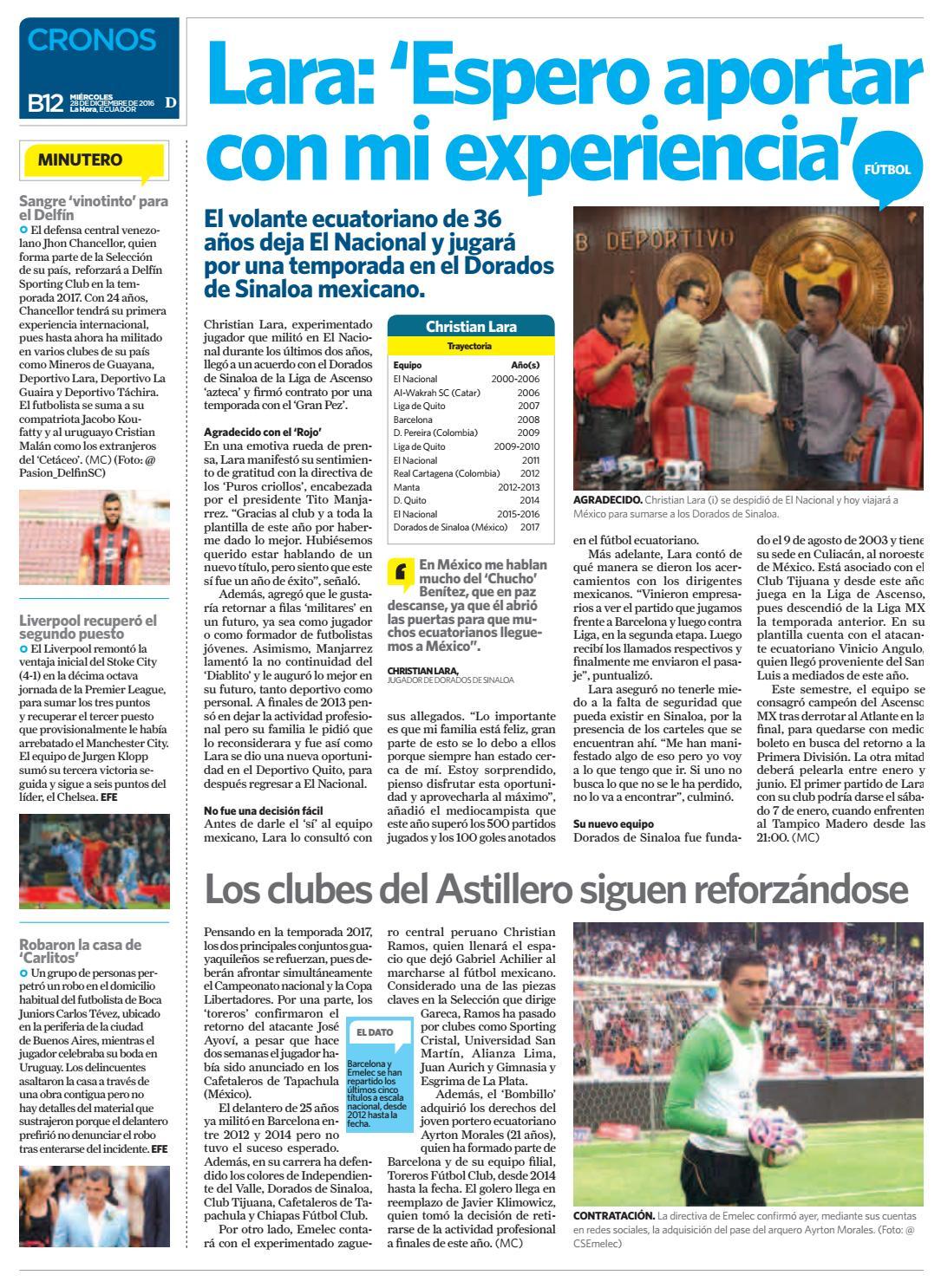 Diario La Hora Loja 28 De Diciembre 2016 By La Hora Ecuador Issuu