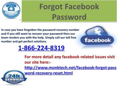 Forgot my Facebook password 1-866-224-8319 – A Panacea to