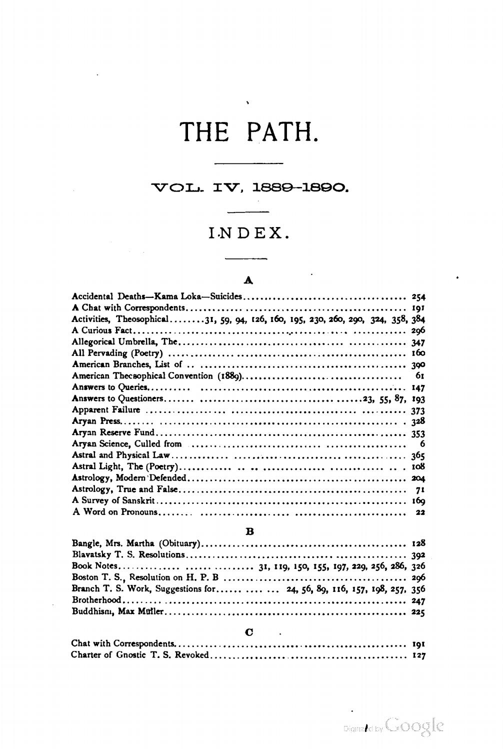 William Quan Judge, editor - The Path Vol  IV, 1889-1890 by