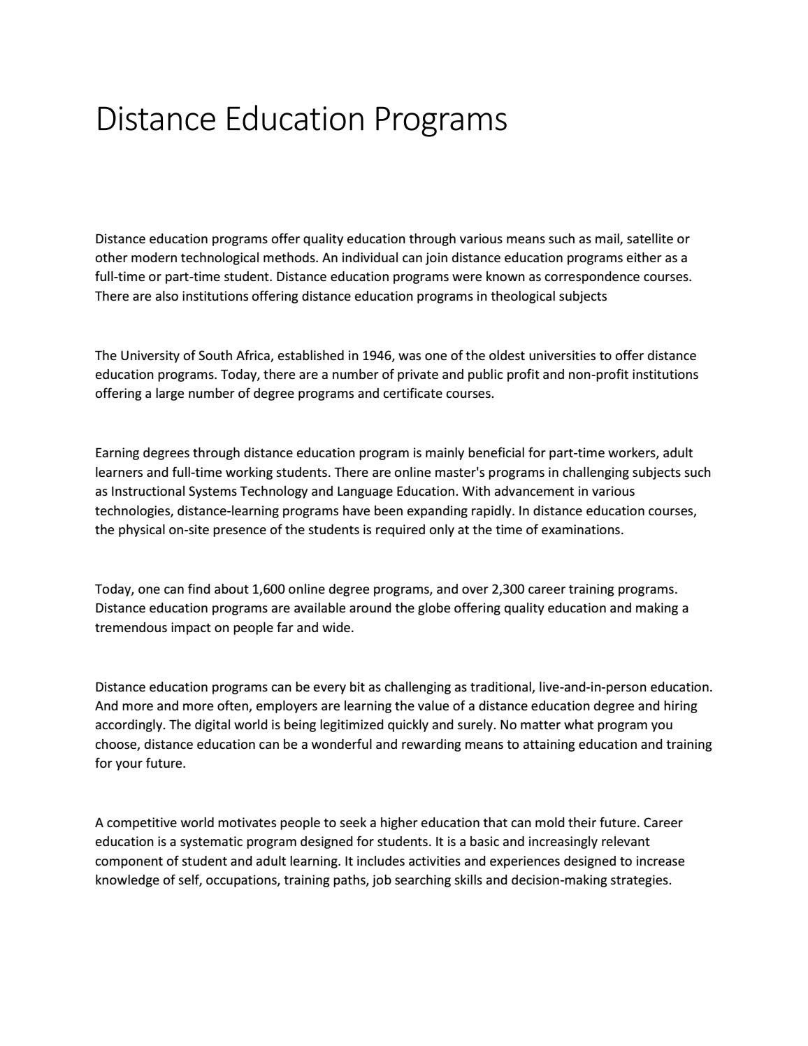distance education programs by nadia javaid issuu