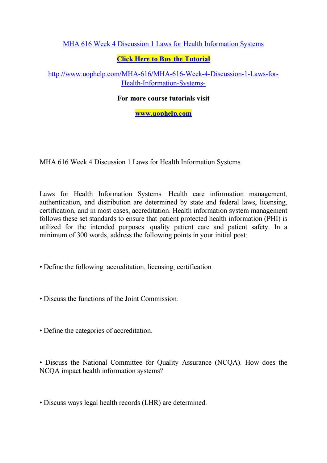 Mha 616 week 4 discussion 1 laws for health information systems by mha 616 week 4 discussion 1 laws for health information systems by pinck76 issuu xflitez Choice Image