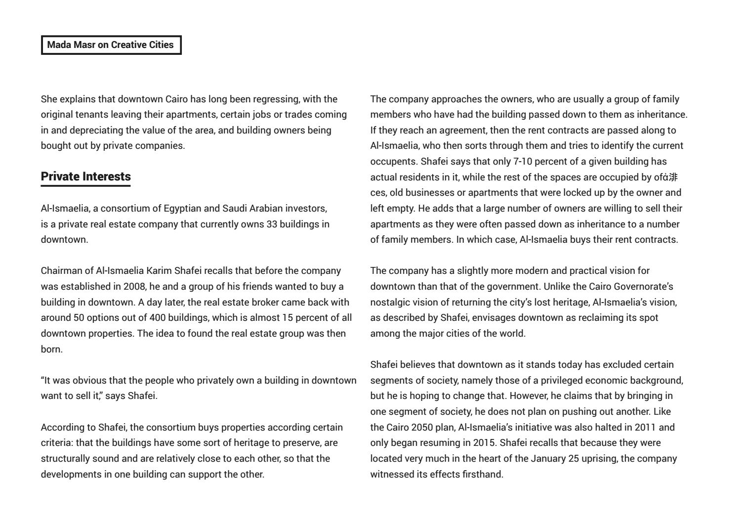 Creative Cities: Re-framing Downtown Cairo by CLUSTER - issuu