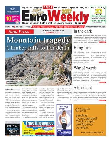 Euro Weekly News - Axarquia 29 December 2016 - 4 January ...