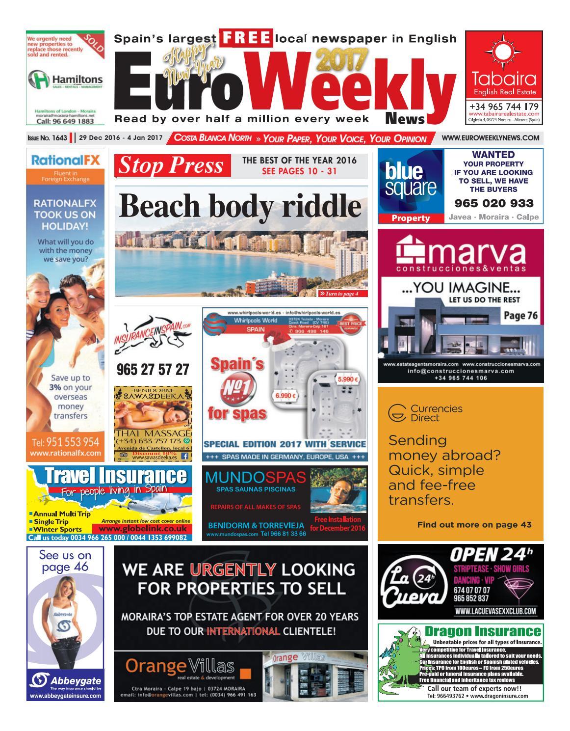 Euro Weekly News - Costa Blanca North 29 December 2016 - 4 ...